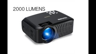 HD Ready 2000 Lumens Mini LED Projector - Play PS4, Watch Movies on 120 inch HD Screen