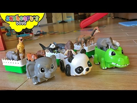 ANIMAL TRAIN RIDE Takara Tomy Dinosaurs and wild animal toys kids zoo