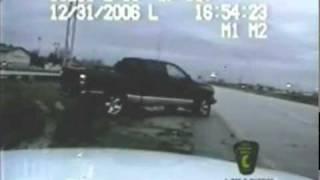 SUV crashes into police car