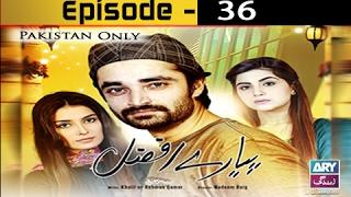 Pyarey Afzal Ep 36 - ARY Zindagi Drama
