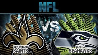 2013 NFC Divisional Playoff Seahawks vs Sainst Hawks highlights