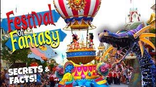 Top 25 Best Festival of Fantasy Parade Secrets! | Disney Parade Floats