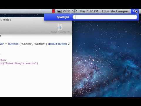 AppleScript - Search Engine
