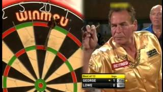 Bobby George  Makes Old Stoneface Laugh - 11 darter