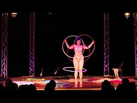 Valentina s Slinky Hoop Burlesque at Seduced by the Imaginarium Circus