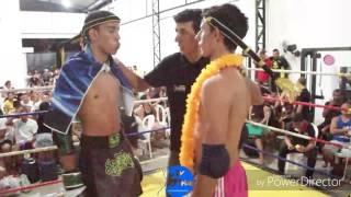 Tv Thai - Jhon ( Pitbull Brothers /Sara Boyka ) vs Vitinho ( Team Mascote ) Copa Self Açaí Muay Thai