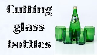 Cutting glass bottles with a bottle cutter