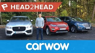 Jaguar F-Pace vs Land Rover Discovery Sports vs Ford Edge...which ones best? 2017 review | Head2head