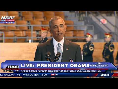 WATCH President Obama Speaks at Armed Forces Farewell Ceremony