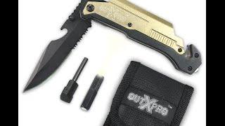 Best Multi Use Folding Rescue Knife w Glass Breaker 6 in 1 by OUTXPRO