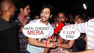 Varun Dhawan ANGRY On Fan At Juhu PVR