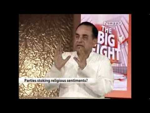 Dr.Subramanian Swamy rocks on NDTV Big Fight hindu muslim votebanks