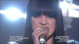 Crucified Barbara - Heaven Or Hell (Live Melodifestivalen Andra Chansen 2010)