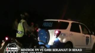 Bentrok FPI Vs GMBI berlanjut di Bekasi pada malam hari - iNews Pagi 13/01