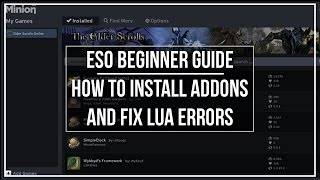 ESO Beginner Guide - How to Install Addons and Fix LUA Memory Errors