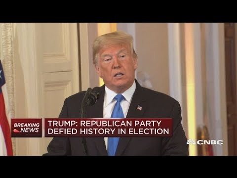 President Donald Trump holds press conference after midterm elections