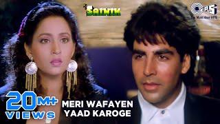 Meri Wafayen Yaad Karoge - Sainik | Akshay Kumar & Ashwini Bhave | Kumar Sanu & Asha Bhosle