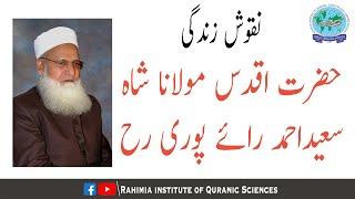 نقوش زندگی، حضرت مولانا شاہ سعید احمد رائے پوری