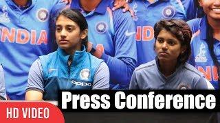 Smriti Mandhana, Punam Raut, Deepti Sharma   Press Conference   India Women