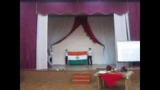 Raj in Moscow (Jamui, Bihar)in school in Indian festival
