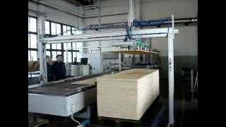 Automatic wood plate vacuum lifter