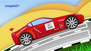 Cars for kids. Race Cars. Sports Car. Race. Cartoon for children.