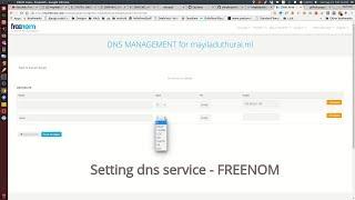 Setting Freenom DNS SERVICE - github pages