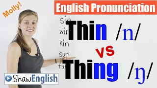 English Pronunciation: Thin /n/ vs Thing /ŋ/