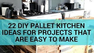 22 DIY Pallet Kitchen Ideas for Projects That Are Easy to Make
