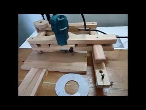 Fresamento em madeira com pantógrafo Wood Milling with homemade pantograph