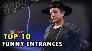 WWE 2K17 - Top 10 Funniest Entrances Part 4