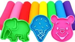 Learn Colors Play Doh Ice Cream Popsicle Elephant Molds Fun & Creative for Kids Rhymes