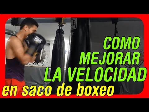 Como mejorar la velocidad y rapidez para boxear Trabajo en saco con entradas y salidas explosivas