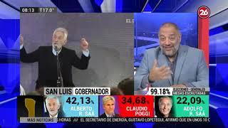 Canal 26 - DE 8 A 10 Con Gustavo Mura - Elecciones En San Luis Y Mendoza: Resultados