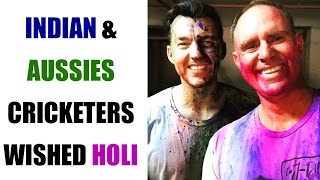 Indian and Aussies cricketers wished Happy Holi on Twitter | Oneindia News
