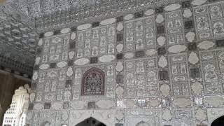 Sheesh Mahal(mirror palace) Mirrored ceiling, Amber Fort, Jaipur
