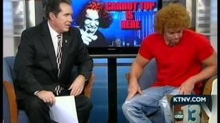 Carrot Top goes on Ch13 Las Vegas