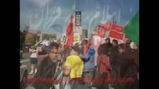 عاشقان ایران در تورنتو بساط مزدوران تازی پرست را برهمزدند ♥