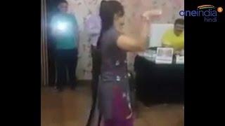 Bar girl dances at Congress MLA Kunwar Pranav Singh champion's office , Watch Video