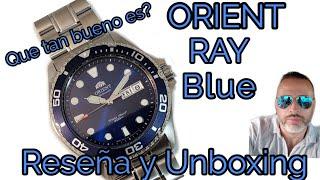 Reloj Orient Ray Azul Diver, Reseña y Unboxing, Que tan bueno es? ref#FAA02005D9