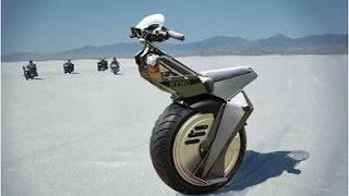 اختراع مذهل - دراجة نارية بعجلة واحدة  . شاهد بنفسك