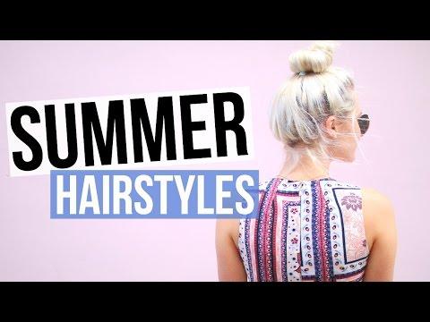 5 Easy & Cute Summer Hairstyles! | Aspyn Ovard