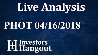 PHOT Stock Growlife Inc. Live Analysis 04-16-2018