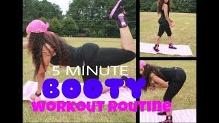 GET A BIGGER ROUNDER BOOTY!! MY 5 MINUTE WORKOUT TO LIFT THE BUTTOCKS | CHINACANDYCOUTURE  FITNESS