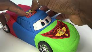 DIY Kinetic Sand Cars 3 Lightning McQueen PJ Masks Colors Kinetic Sand Disney Pixar Cars 3 Movie