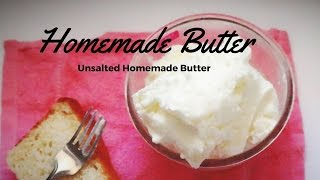 Homemad Butter Recipe(How to Make Butter at Home)