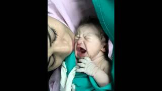 Mommy's First Kiss Stops Her Newborn Baby Cry
