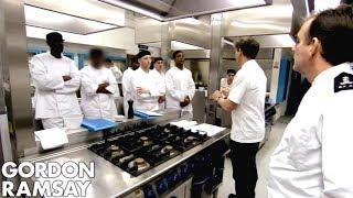 Gordon Ramsay Teaches His Prison Brigade To Cook  | Gordon Behind Bars