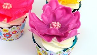 Easy Chocolate Flower | Cupcake Decorating