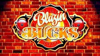Blazin' Bucks Slot - NICE SESSION, ALL FEATURES - $4.56 Max Bet!